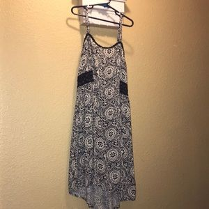 4 FOR $24 Blue and white patterned dress